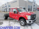 2012 Vermillion Red Ford F350 Super Duty XL SuperCab 4x4 Chassis #59053783