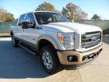 2012 White Platinum Metallic Tri-Coat Ford F250 Super Duty King Ranch Crew Cab 4x4 #59054015