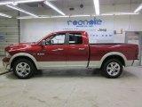 2009 Inferno Red Crystal Pearl Dodge Ram 1500 Laramie Quad Cab 4x4 #59117129