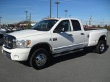 2008 Bright White Dodge Ram 3500 Laramie Quad Cab 4x4 Dually #59117477