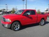 2012 Flame Red Dodge Ram 1500 Big Horn Quad Cab 4x4 #59117470