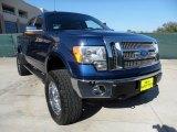 2011 Dark Blue Pearl Metallic Ford F150 Lariat SuperCrew 4x4 #59117181