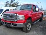 2005 Red Ford F350 Super Duty Lariat Crew Cab 4x4 #59117143