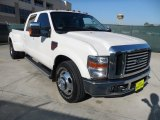 2010 White Platinum Metallic Tri-Coat Ford F350 Super Duty Lariat Crew Cab 4x4 Dually #59168814