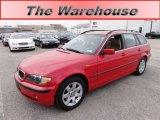 2005 Electric Red BMW 3 Series 325xi Wagon #59168401