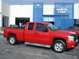 2009 Victory Red Chevrolet Silverado 1500 LT Extended Cab 4x4 #59168772