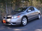 2007 Galaxy Gray Metallic Honda Civic LX Coupe #5891230