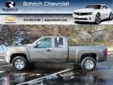 2012 Mocha Steel Metallic Chevrolet Silverado 1500 LT Extended Cab 4x4 #59243439
