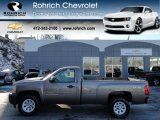 2012 Mocha Steel Metallic Chevrolet Silverado 1500 Work Truck Regular Cab 4x4 #59243438