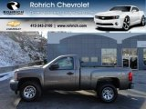 2012 Mocha Steel Metallic Chevrolet Silverado 1500 LS Regular Cab 4x4 #59243437