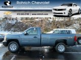 2012 Blue Granite Metallic Chevrolet Silverado 1500 Work Truck Regular Cab 4x4 #59243432