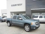 2009 Blue Granite Metallic Chevrolet Silverado 1500 LT Crew Cab #59243391