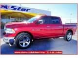 2009 Inferno Red Crystal Pearl Dodge Ram 1500 Lone Star Edition Crew Cab #59242939