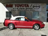 2001 Laser Red Metallic Ford Mustang V6 Convertible #59242495