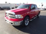 2012 Flame Red Dodge Ram 1500 Big Horn Crew Cab 4x4 #59242881