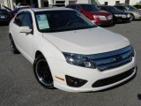 2010 White Platinum Tri-coat Metallic Ford Fusion SE V6 #59242841