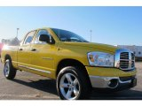 2007 Detonator Yellow Dodge Ram 1500 Big Horn Edition Quad Cab 4x4 #59242815