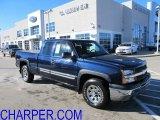 2005 Dark Blue Metallic Chevrolet Silverado 1500 Z71 Extended Cab 4x4 #59242375