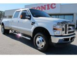 2010 Oxford White Ford F350 Super Duty Lariat Crew Cab 4x4 Dually #59242734