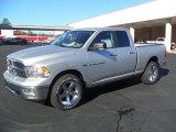 2012 Bright Silver Metallic Dodge Ram 1500 SLT Quad Cab 4x4 #59243101