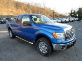 2012 Blue Flame Metallic Ford F150 XLT SuperCab 4x4 #59319691