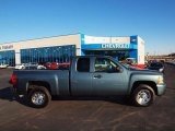 2009 Blue Granite Metallic Chevrolet Silverado 1500 LS Extended Cab #59319636