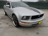 2005 Satin Silver Metallic Ford Mustang V6 Deluxe Coupe #59375689