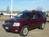 2002 Dark Garnet Red Pearlcoat Jeep Grand Cherokee Limited 4x4 #59375616