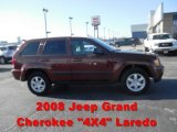 2008 Red Rock Crystal Pearl Jeep Grand Cherokee Laredo 4x4 #59416251