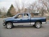 2004 Patriot Blue Pearl Dodge Ram 1500 SLT Quad Cab 4x4 #59416242