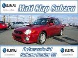 Sedona Red Pearl Subaru Impreza in 2002