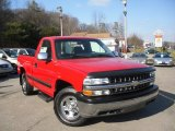 2002 Victory Red Chevrolet Silverado 1500 LS Regular Cab 4x4 #59415400