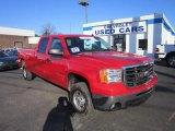 2007 Fire Red GMC Sierra 2500HD SLE Crew Cab 4x4 #59415274