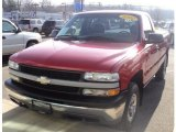 2002 Victory Red Chevrolet Silverado 1500 Work Truck Regular Cab 4x4 #59415951