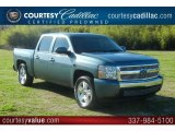 2008 Blue Granite Metallic Chevrolet Silverado 1500 LT Crew Cab #59478770
