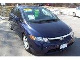 2007 Royal Blue Pearl Honda Civic LX Sedan #5943361