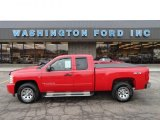 2008 Victory Red Chevrolet Silverado 1500 LT Extended Cab 4x4 #59478697