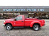 2012 Vermillion Red Ford F350 Super Duty XLT Regular Cab 4x4 Dually #59478685