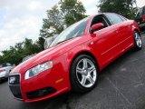 2008 Brilliant Red Audi A4 2.0T quattro S-Line Sedan #59528779