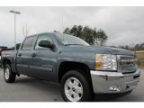 2012 Blue Granite Metallic Chevrolet Silverado 1500 LT Crew Cab #59529061