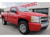 2007 Victory Red Chevrolet Silverado 1500 LS Regular Cab #59529011