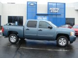2009 Blue Granite Metallic Chevrolet Silverado 1500 LT Crew Cab 4x4 #59528975