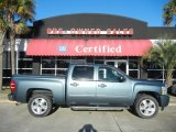 2008 Blue Granite Metallic Chevrolet Silverado 1500 LT Crew Cab #59583526