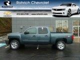 2012 Blue Granite Metallic Chevrolet Silverado 1500 LT Crew Cab 4x4 #59584089