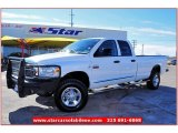 2008 Bright White Dodge Ram 3500 Lone Star Quad Cab 4x4 #59583809