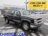 2004 Black Chevrolet Silverado 1500 Z71 Regular Cab 4x4 #59584034