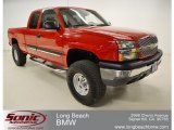 2004 Victory Red Chevrolet Silverado 1500 LS Extended Cab #59583736