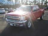 2012 Victory Red Chevrolet Silverado 1500 LT Extended Cab 4x4 #59583946