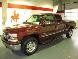 2000 Dark Carmine Red Metallic Chevrolet Silverado 1500 LS Extended Cab 4x4 #59583312
