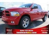 2012 Flame Red Dodge Ram 1500 Express Quad Cab #59583620